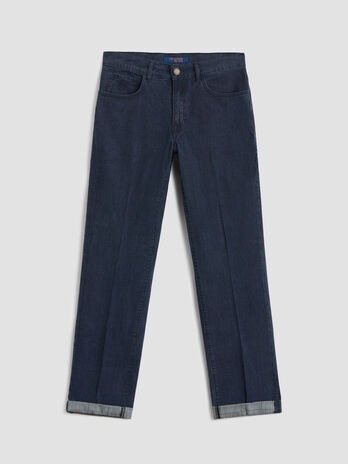 Glen plaid denim Icon 380 jeans