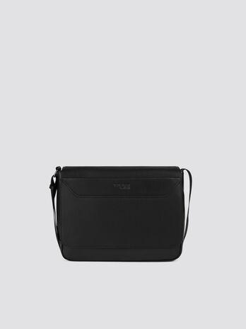 Medium work messenger bag faux leather shoulder strap