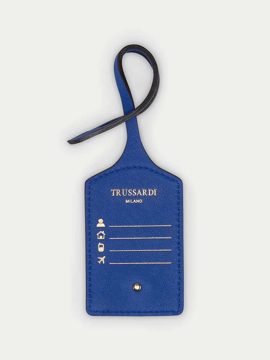 Airplane detailed Velvet leather luggage tag