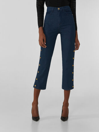 Jean Miami cropped en denim serge