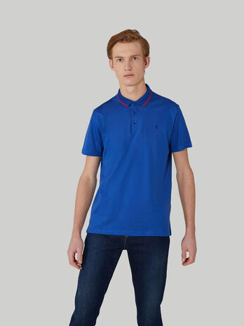 Regular-fit pure cotton polo-shirt
