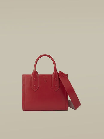Small leather Venezia shopper