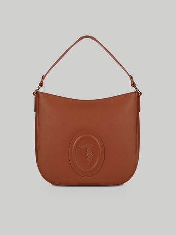 Medium Lisbona hobo bag in faux leather