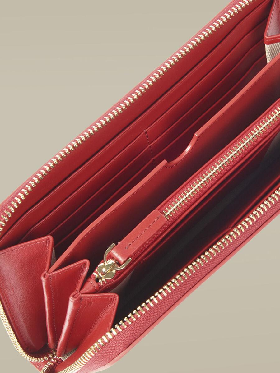Geldboerse mit umlaufendem Reissverschluss Venezia aus Leder