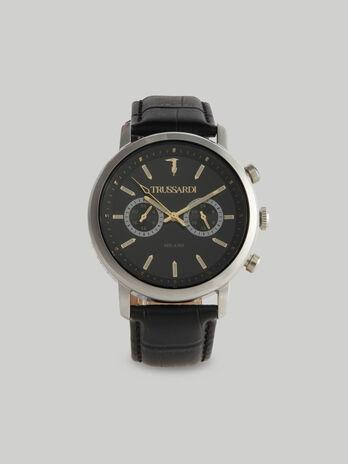 Montre T-Couple 43MM a bracelet en cuir
