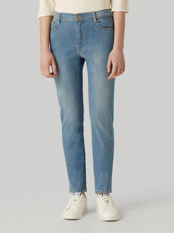 Skinny 105 jeans in soft cross denim