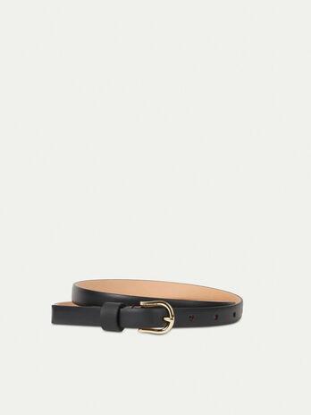 Cinturon fino de piel