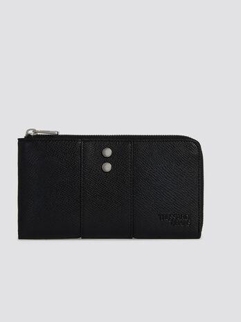 Portefeuille Berry phone zippe format moyen similicuir