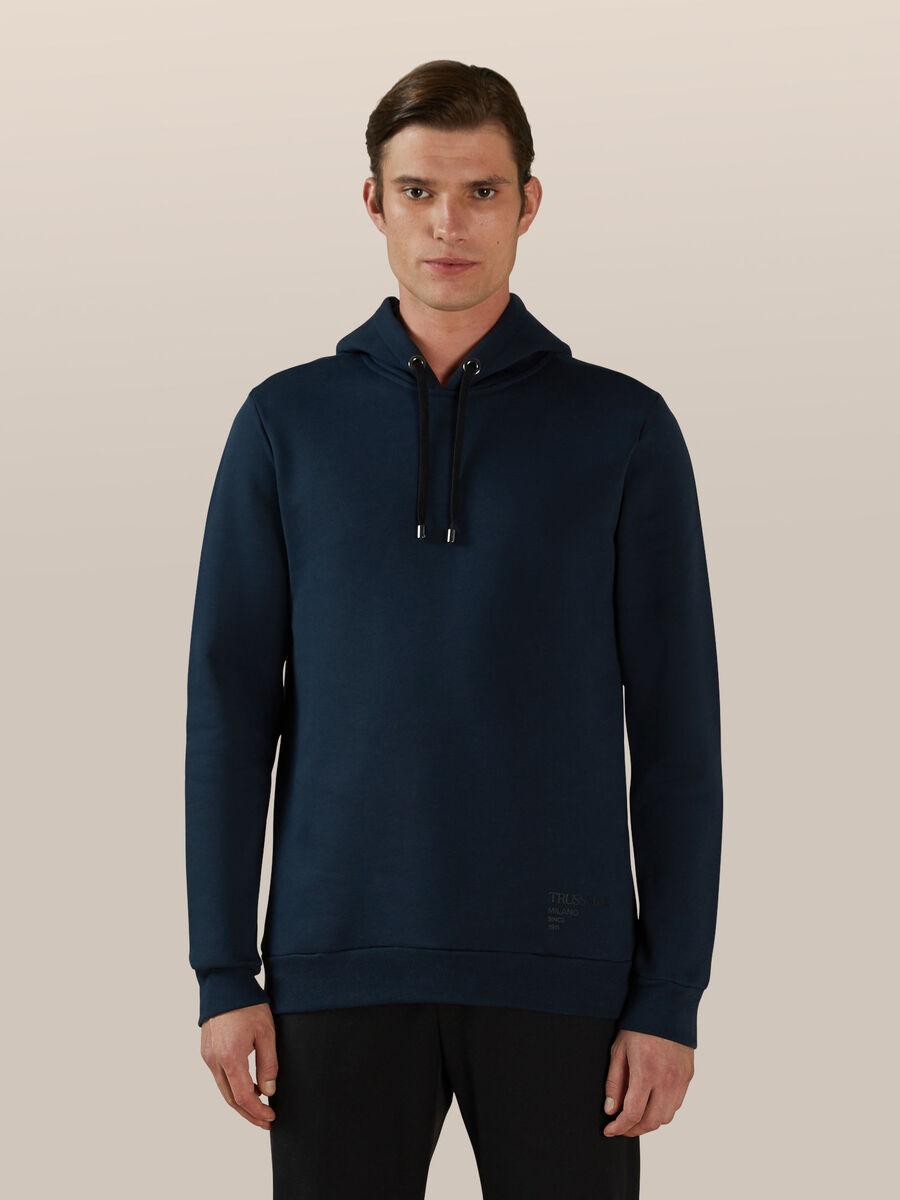 Regular fit cotton hoody