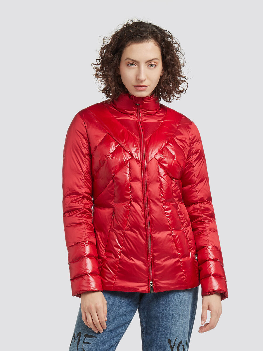 Slim fit down jacket with real down