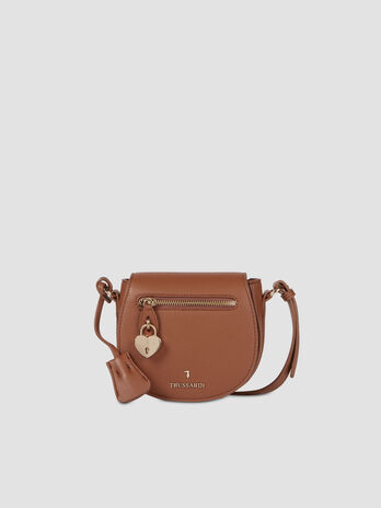 Small crossbody bag in faux deerskin