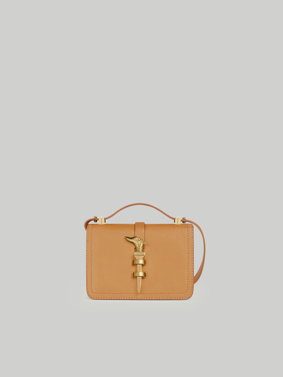 Small Leila shoulder bag solid colour leather