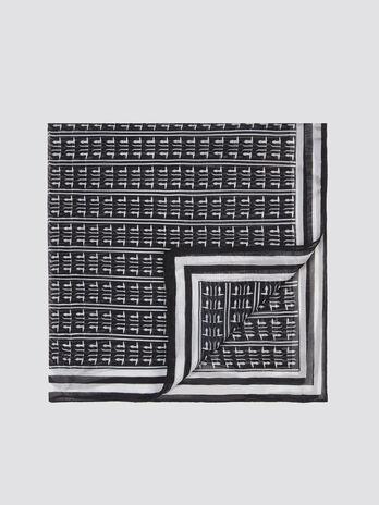 Scarf with distinctive monogram print