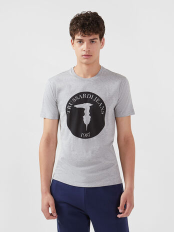 Regular fit jersey T-shirt with logo