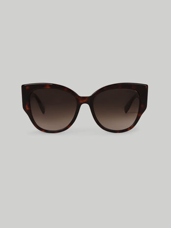 Tortoiseshell sunglasses with Levriero greyhound detail