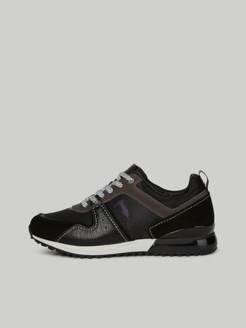 Nylon and suede Kevin sneakers