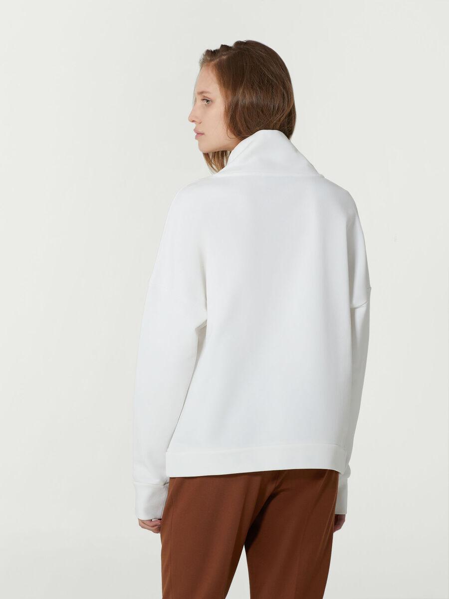 Felpa over fit in cotone con logo ricamato
