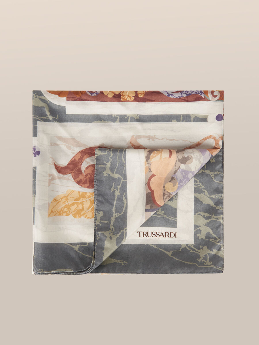 Fular de seda estampada