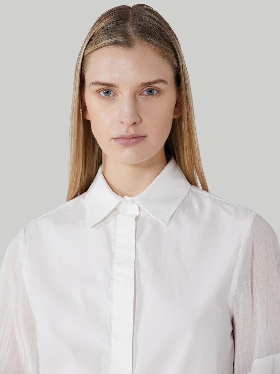 Camicia over in popeline di cotone