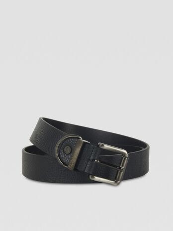 Cinturon de piel martillada