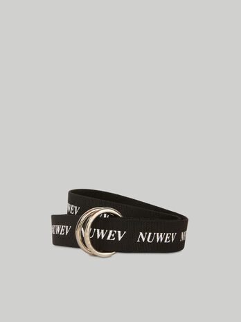 Canvas Trussardi Nuwev belt with rings