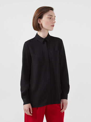 Loose tencel twill shirt