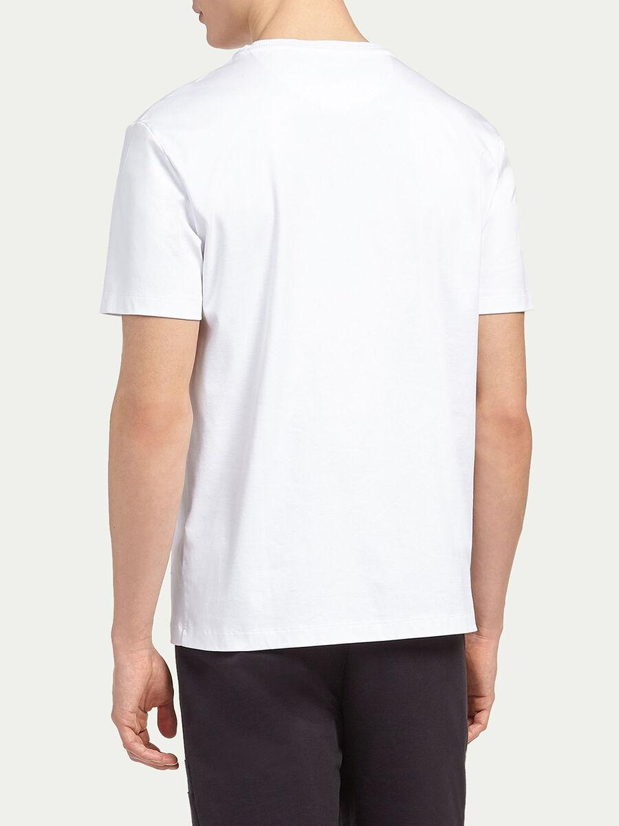 Interlock T shirt with small print