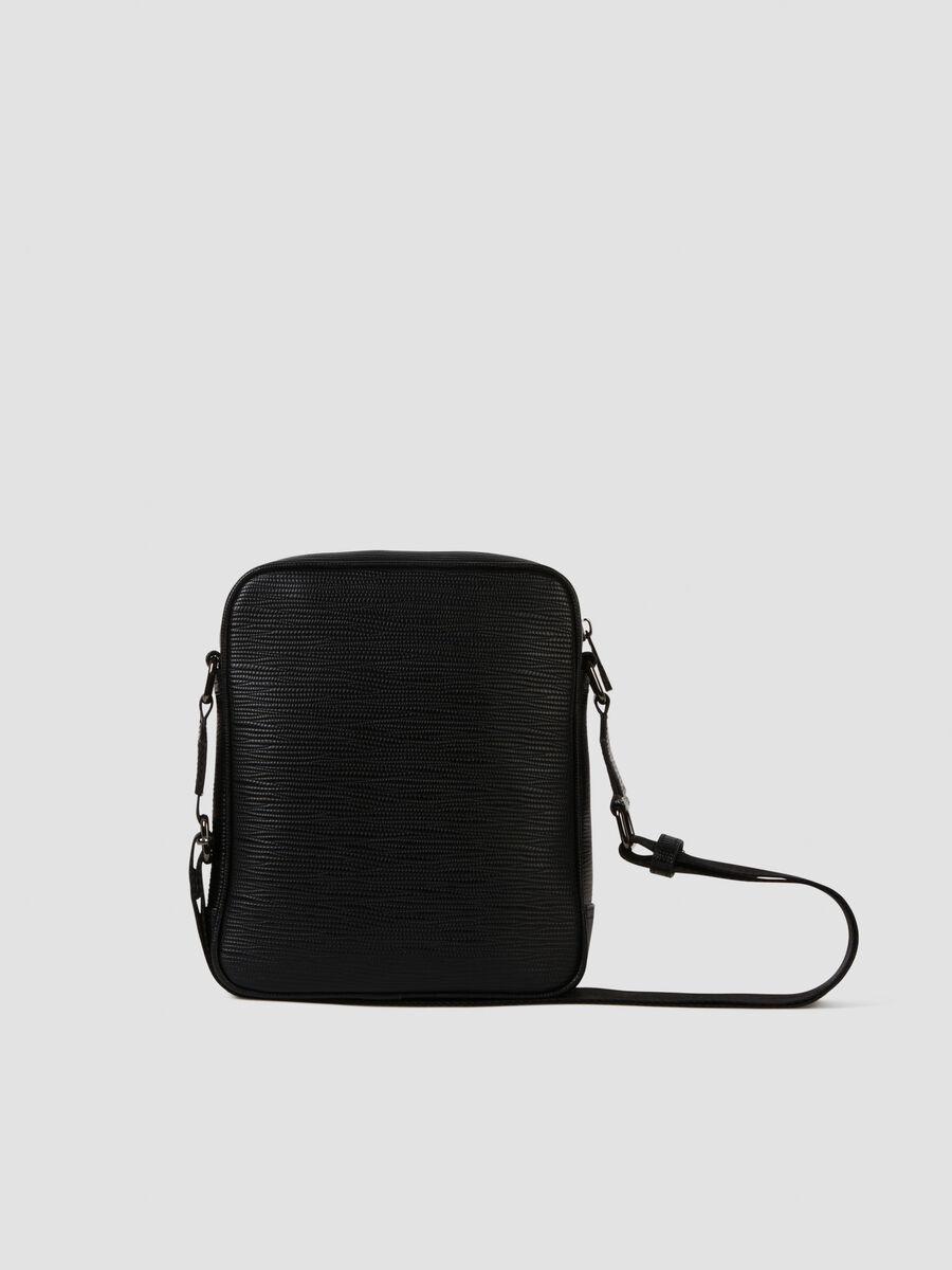 Medium Cortina reporter bag in faux saffiano leather