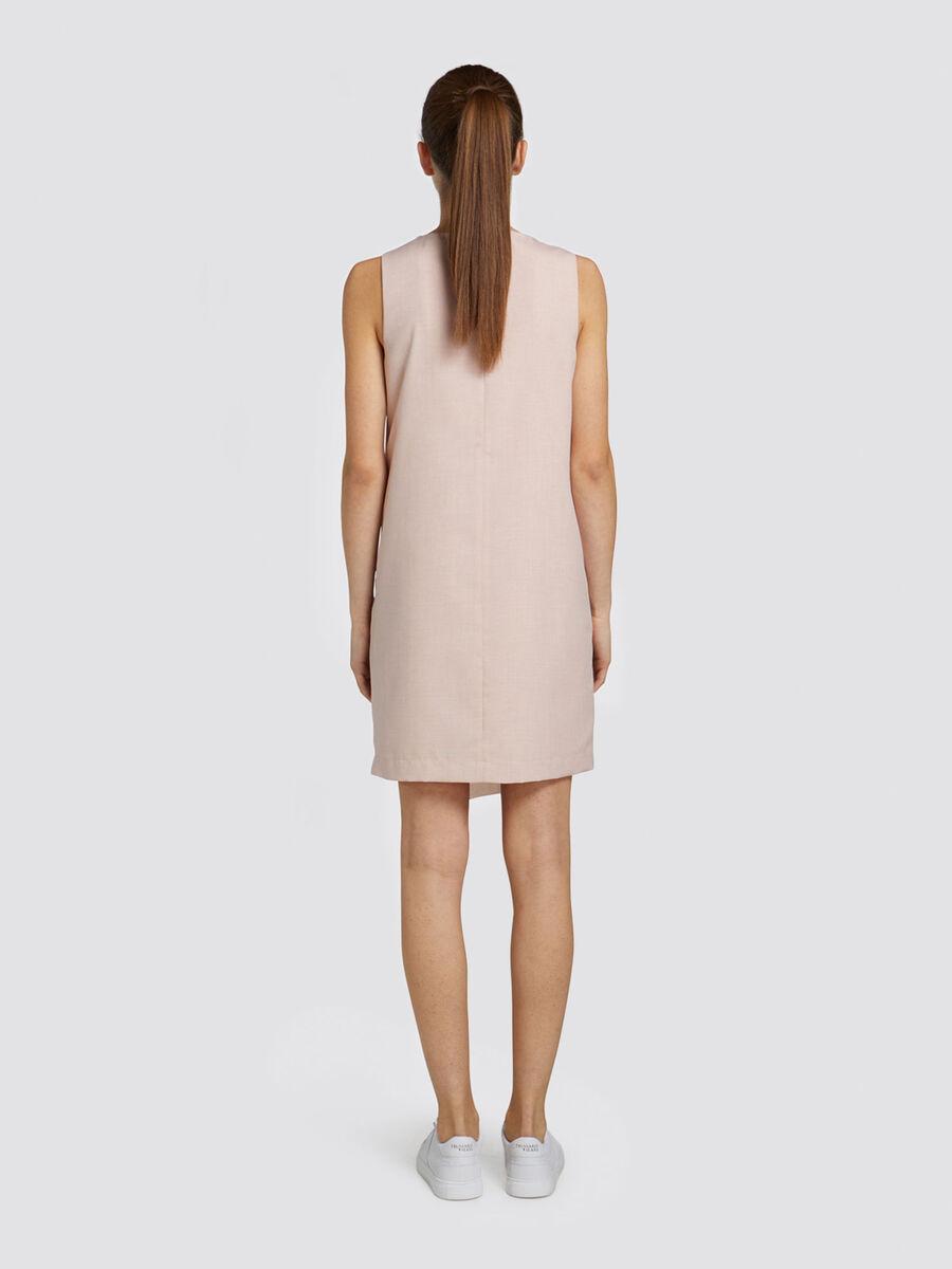 Regular fit sleeveless minidress in dyed yarn
