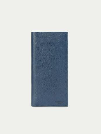 Portafogli Continental in pelle stampata saffiano
