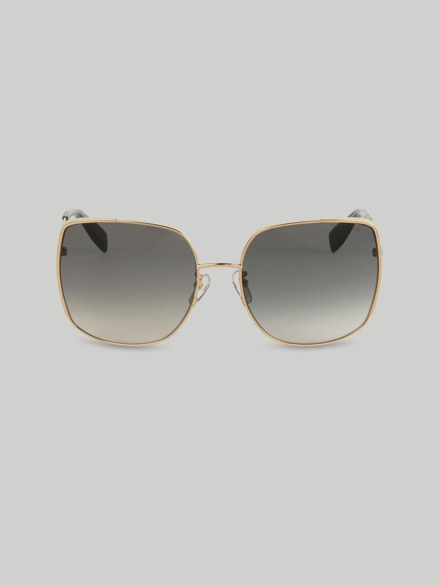 Oversized metal sunglasses