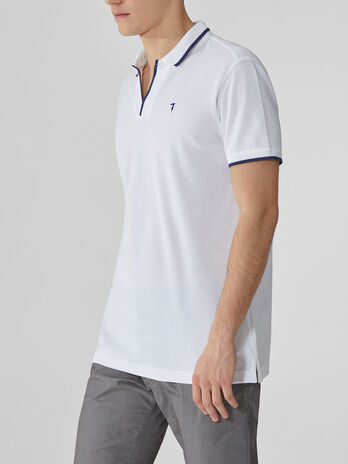 Regular-fit cotton pique polo-shirt