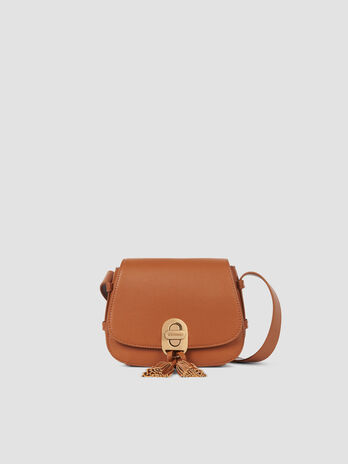 Small faux leather Boston crossbody bag