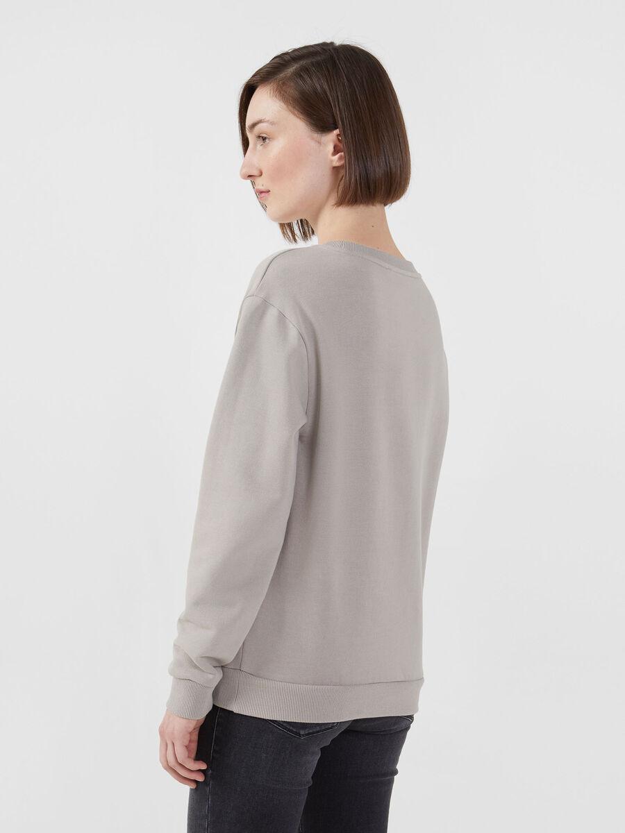 Cotton sweatshirt with maxi logo