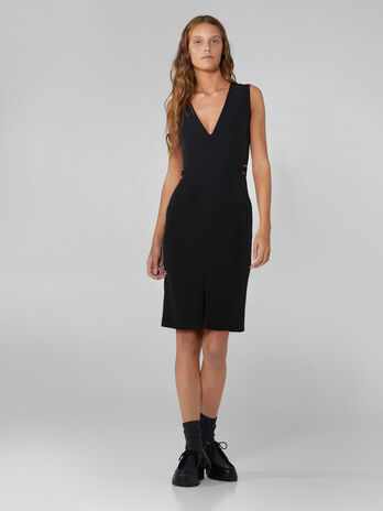 Technical cady sheath dress
