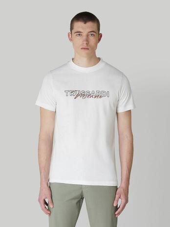 T-shirt coupe classique en jersey a imprime lettering