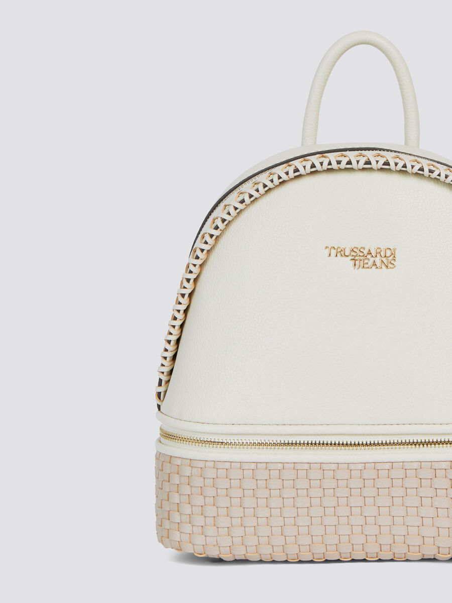 Medium faux leather Mimosa backpack with logo detail