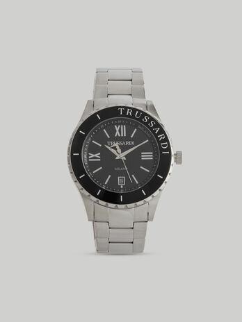 Reloj T-Logo 43MM con correa de piel