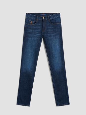 Extra slim 370 jeans in Cross denim