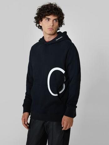 Sweat-shirt a capuche coupe classique en coton
