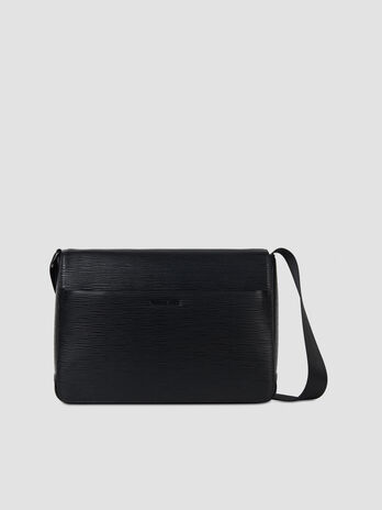 Medium Cortina messenger bag in faux saffiano leather
