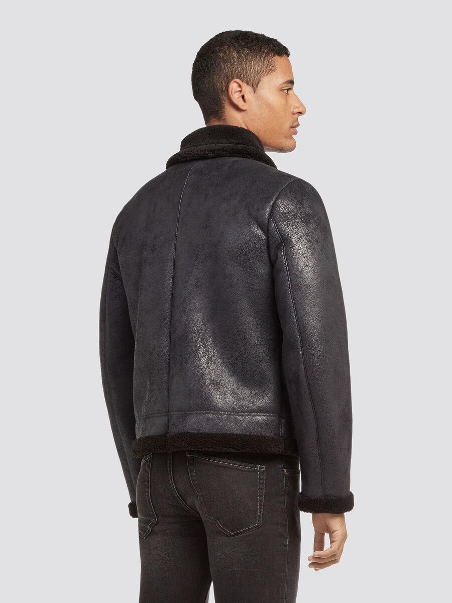 Regular fit eco shearling jacket