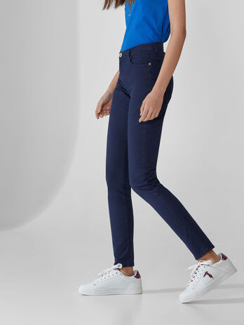 Pantalon 105 skinny en drill de coton stretch