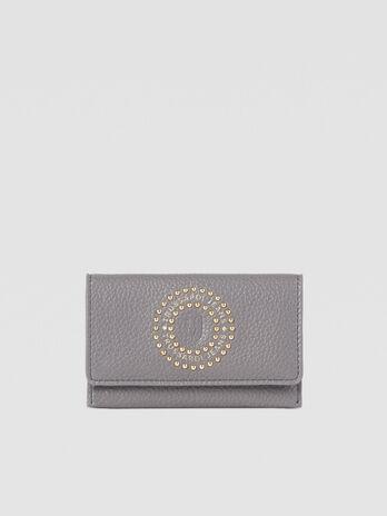 Porta carte Harper small in similpelle con borchie