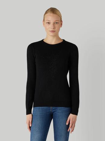 Regular-fit viscose and lurex pullover