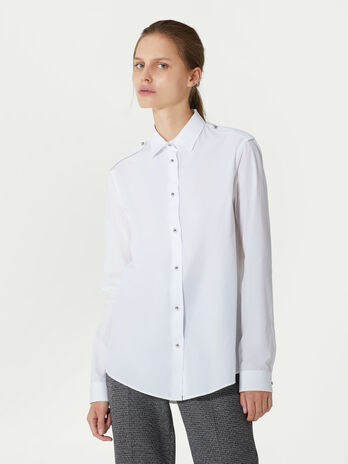 Soft solid colour cotton shirt