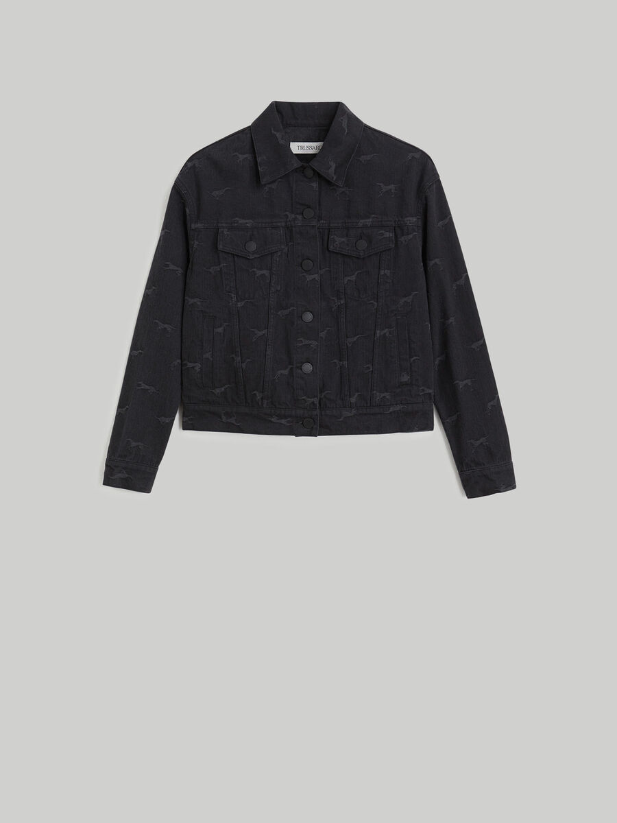 Denim jacquard jacket