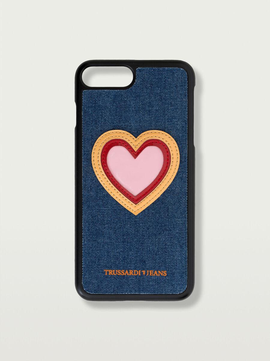 Feste Hulle fur das iPhone 7 Plus mit Herz Patch