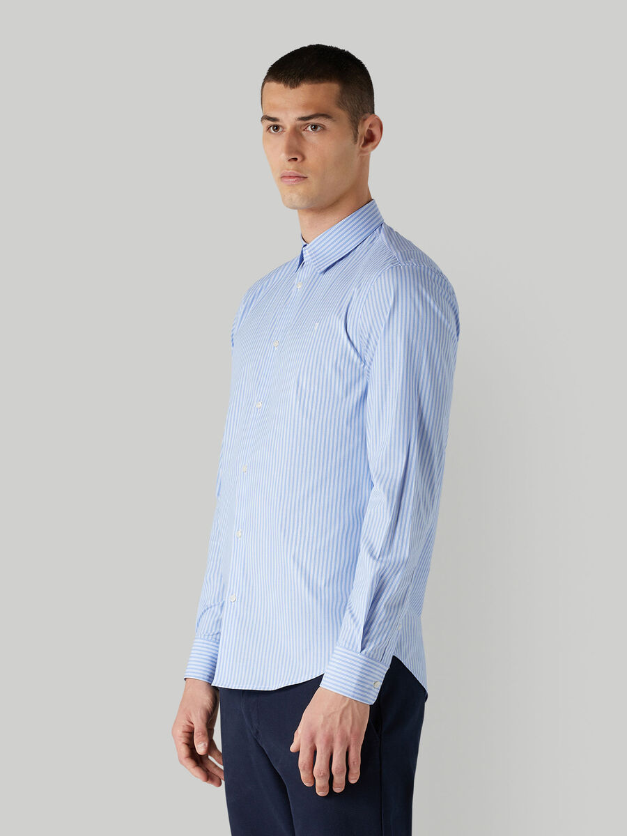 Regular-fit striped shirt with Kent collar