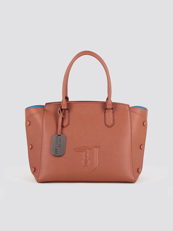 Faux leather Melissa handbag with stone details